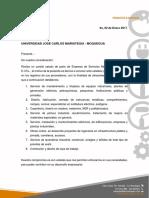 Carta de Presentacion Servimex