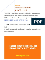Hindu Disposition of Property Act 1916