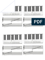 Keyboard Chord Sheet for Pupil Filling In