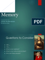 Memory Lecture