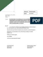 Proto type offer letter for 100 KVA-1210, 255 Amendment # 5 dt. 19-09-2017