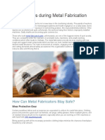Safety Rules During Metal Fabrication