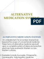 Alternative Medication Systems Prelim 1