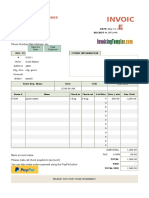 Hotel Bill Format With Online Payment