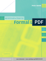 Introduction to Formal Logic Peter Smith