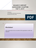 BOARD's REPORT - Bhayander Chapter 5.5.2019 - CS S Sudhakar