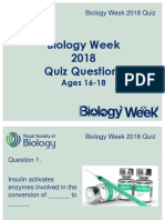 Biology Week Quiz 2 Ages 16-18