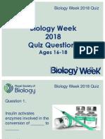 Biology Week Quiz 2 Ages 16-18