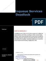 Global en queue services deadlock.