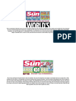 how the sun and fourfour two advertise products