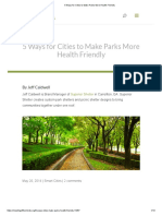 5 Ways for Cities to Make Parks More Health Friendly