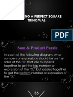 Factoring a Perfect Square Trinomial
