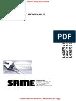Same Laser 110-130-150 Operators Manual