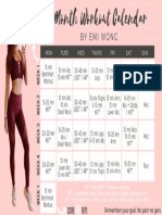 Emi Wong 1 Month Workout Plan