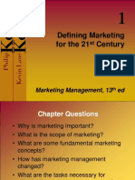 01 Defining Marketing for the 21st Century
