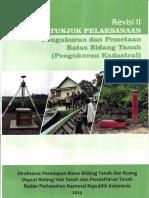 Buku Petunjuk Pelaksanaan Pengukuran Dan Pemetaan Batas Bidang Tanah (Pengukuran Kadastral)