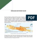 IPS Kerajaan Mataram Islam