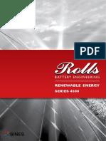 SINES Rolls Batterie ouverte série 4500