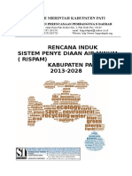 Rencana Induk Sistem Penyediaan Air Minum (Rispam) Kabupaten Pati