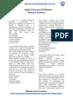 Simulado Concurso Professor - Antonio Gramsci