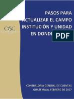 Guia Para Actualizar Campo Institución y Unidad en Donde Labora 2017