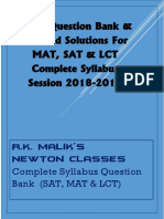 NTSE Question Bank & Solutions (Complete Syllabus) - PDF