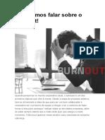Precisamos Falar Sobre o Burnout