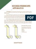 Improvised Periscope Apparatus
