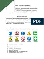 """Evidencia 4 Taller """"Safety Signs"""""""