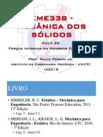 Estática - Forças Internas em Membros Estruturais