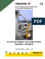 Manual Plataforma Articulada 16 y 18mts Diesel Haulotte Mod. Ha16px y Ha18px
