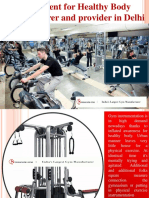 Equipment for Healthy Body Manufacturer and Provider in Delhi