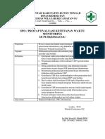 SOP Evaluasi Ketetapan Waktu Monitoring