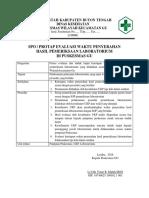 SOP Evaluasi Ketetapan Waktu Penyerahan Hasil Pemeriksaan Laboratorium