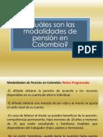 Modalidades de Pension en Colombia