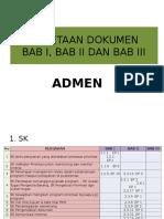 PEMETAAN DOKUMEN BAB I, BAB II DAN BAB III ADMEN.pdf