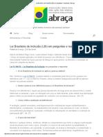Lei Brasileira de Inclusão (LBI) Em Perguntas e Respostas _ Abraça