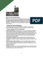 causas, efectos y recomendaciones ante inundaciones, huracanes, terremotos etc.