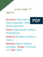 Organización Política Prehispánica