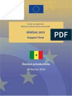 Senegal - Mission d'observation électorale de l'UE - Rapport final