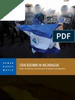 Crackdown in Nicaragua