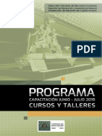 Programa Junio Julio Camada de Diputados Cursos