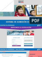 Presentacion Sistema Admision - Postulación Paso a Paso - Plataforma de Postulación
