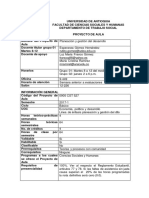 P.a. Planeación y Gestión Del Desarrollo Eje Docencia - 2017-1