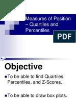 Day 1 - Measures of Position - Quartiles - Percentiles - ZScores-BoxPlots 2.6