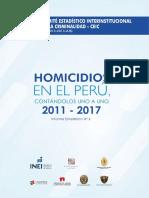 INEI. Homicidios 2011-2017