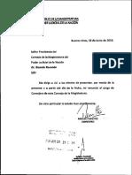 Renuncia de Miguel Pichetto al Consejo de la Magistruatura