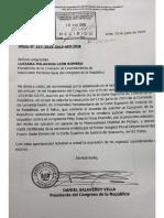 Salaverry remite pedido para levantar inmunidad a congresista Joaquín Dipas