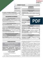 Decreto Supremo Que Conforma La Comision Multisectorial Deno Decreto Supremo n 075 2019 Pcm 1761100 1
