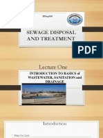 Sewage Disposal and Treatment (1)